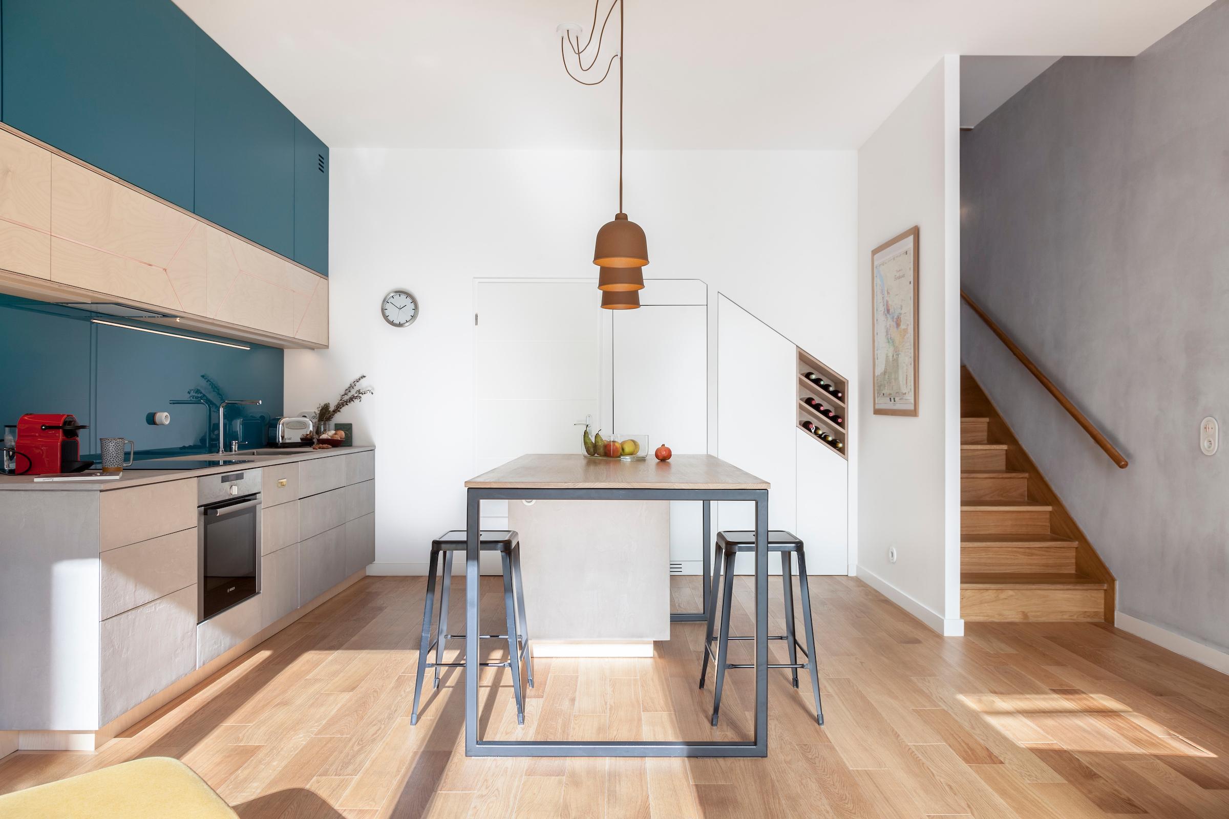 am nagement d 39 un duplex agence glenn medioni. Black Bedroom Furniture Sets. Home Design Ideas