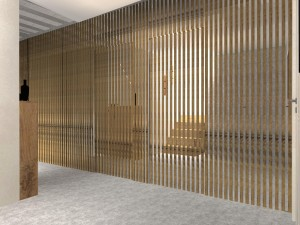 Mur tasseaux